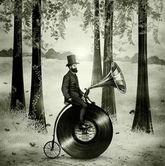 Music Man in the Forest, by Eric Fan and Viviana González Art Print