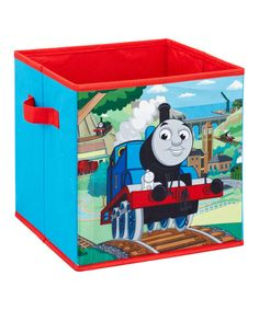 All aboard! Tuck away toys, clutter and little trinkets in this lively Thomas the Tank Engine-inspired storage cube. Perfect for that cutie conductor's playroom, this brightly colored bin keeps rooms clean and organized. Thomas The Train Toys, Thomas The Train Birthday Party, Trains Birthday Party, Thomas The Tank, 3rd Birthday, Birthday Ideas, Collapsible Storage Cubes, Cube Storage, Storage Racks