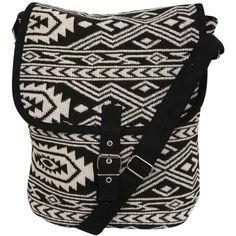 Pilot Tribal Cross Body Messenger Bag ($14) ❤ liked on Polyvore featuring bags, messenger bags, purses, black, long strap crossbody bag, courier bag, crossbody bags and tribal messenger bag