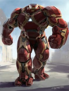 Unused hulkbuster amor concept art from Age Of Ultron