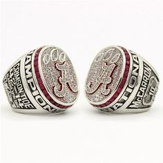 Custom 2012 Alabama Crimson Tide National Championship Ring Click Link in My Profile to Order #rolltide #alabama #sec #lsu #fsu #cfb #vfl #ugafootball #gbo #cfpbound #govols #vols