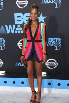 Issa Rae Outshines Her Balmain at the 2017 BET Awards | Tom + Lorenzo
