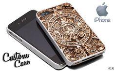 wood calendar aztec 4/4s,5/5s/5c, Samsung Galaxy s3/s4 Case