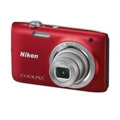 "KIT CAMARA DIGITAL NIKON COOLPIX S2800 ROJO 20.1MP ZO 5X HD LCD 2.7"" LITIO + ESTUCHE"
