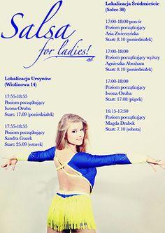 Salsa 4 Ladies - kursy solowe salsy w SL!  Ruszamy już w poniedziałek 17.09!