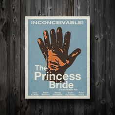 The Princess Bride Minimalist Movie Poster 11 by EntropyTradingCo, $15.00