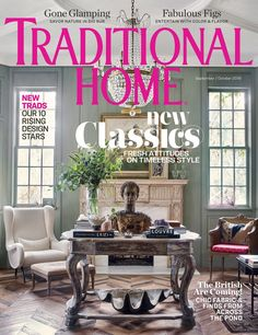 Stray Dog Designs Beauregard Lamp was featured in Traditional Home's September/October Issue. Best Home Interior Design, Interior Design Business, Interior Design Magazine, Magazine Design, Interior Decorating, Decorating Ideas, Home Design Websites, Traditional Home Magazine, Home Design Magazines