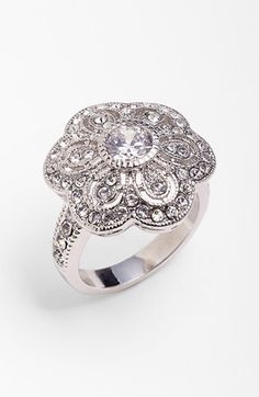 Ariella Collection Flower Cocktail Ring available at #Nordstrom