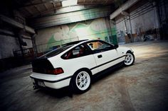 Honda CRX /// #JapanRacing Wheels JR-7 15x7 ET40mm White Full Painted http://rpmotorsport.pl/felgi-japan-racing-c-753_633_6992_7127.html  Photoshoot by EBISU Studio