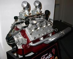 """The Ford V8-60 engine holds a special place in the history midget auto racing. Known as the """"poor man's offy', the V8-60 offered a reliable power plant for cash-strapped young men with a passion to race. Ironically, the small size that made it ideal for midgets doomed the V8-60 as a passenger car engine and it was discontinued after only a few years.  Still, V8-60s were in competition from 1937 until the 1950's."""