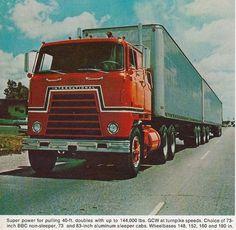 International Harvester Super Transtar Cab-Over showroom brochure Big Rig Trucks, Semi Trucks, Old Trucks, Navistar International, International Harvester Truck, Truck Transport, Road Train, Cab Over, Vintage Trucks