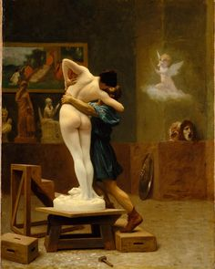"""""""Celebrate #NationalHugDay with Gérôme's depiction of the moment when the sculpture of Galatea was brought to life by the goddess Venus, in fulfillment of…"""""""