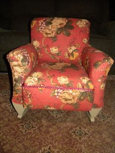 Vintage Childs Upholstered Rocking Chair~w/matching Pillow