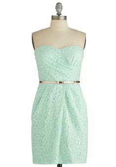 This pretty, strapless mint green number would be a lovely choice for a summer celebration. It might even inspire your entire wedding colour palette!    $59.99 USD    Buy it via  Weddingbells Shopping .