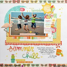 A dt layout created for My Creative Scrapbook using their July Main Kit