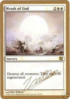 Wrath of God Magic Cards, Magic The Gathering, Mtg, Nerdy, Geek Stuff, Creatures, Geek Things
