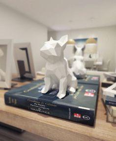 Frenchie Geométrico - Bulldogue - Bulldog - Francês - Arquitetura - Interiores - Esculturas - Arte - Design - Casa - Quarto - Cozinha - Escritório - Pássaros - Geométricos Leão Geométrico - Adorno - Sala - Decoração - Decor - Home - Dudecor