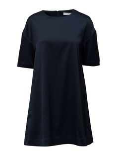 DAY - Mood Concealed back zip closure Loose fit Stretch fabric Simple and innovative Loose Fit, Stretch Fabric, Short Sleeve Dresses, Closure, Mood, Blazer, Zip, Navy, Simple