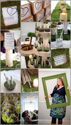 This is so our style. Baby, or no. It& Andrew& favorite color palette (deep moss green with darker wood brown) and we both love woodsy nature stuff. (I& especially a fan of moss, and airplants in glass terrariums! Woodsy Baby Showers, Elephant Baby Showers, Baby Shower Parties, Baby Shower Themes, Shower Ideas, Baby Shower Photo Booth, Baby Shower Photos, Baby Shower Centerpieces, Baby Shower Decorations