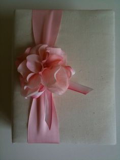 Pink hydrangeas - and an ombre bow!