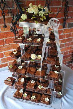 Brownie wedding cake inspiration