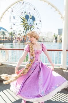 A Little Disney Magic Disney Princess Cosplay, Rapunzel Cosplay, Disneyland Princess, Disney Princess Rapunzel, Disney Princess Dresses, Tangled Rapunzel, Disney Tangled, Disney Cosplay, Disney Dresses