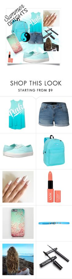 """""""Summer Bright's( my first contest )"""" by tritribae ❤ liked on Polyvore featuring LE3NO, Vans, Everest, NYX, Space Style Concept, Firstcontest and summerbrights"""