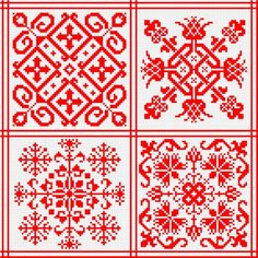 Patterns for traditional Russian embroidery - used in decorating of clothes, curtains, etc.