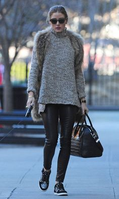 Olivia Palermo carrying a Givenchy bag in New York