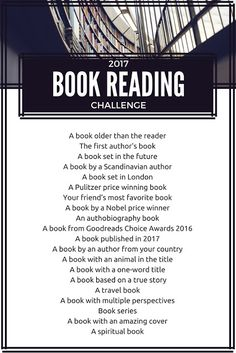 A Perpetual Dreamer - book reading challenge for 2017