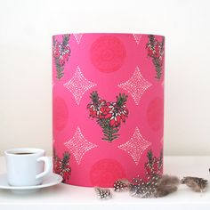 Made by Ilze - Handmade lampshade with Erica design from Cape Flora collection