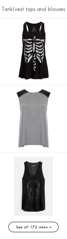 """""""Tank/vest tops and blouses"""" by musicmelody1 ❤ liked on Polyvore featuring tops, shirts, tank tops, tanks, sleeveless tank, french connection shirts, sleeve shirt, urban shirts, cotton sleeveless tops and black"""