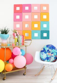 DIY Splatter Painted Mirror Wall Art – A Beautiful Mess (IKEA Malma mirrors, could also put photos in center)