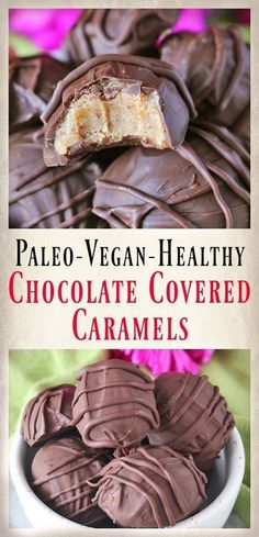 Paleo Chocolate Covered Caramels - gluten free, dairy free and vegan and still so delicious! No-bake and so easy! Perfect for Easter.