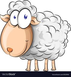 Illustration about Sheep cartoon isolate on white background. Illustration of cartoon, sheeps, caricature - 38744779 Goat Cartoon, Sheep Cartoon, Cartoon Wall, Cartoon Stickers, Cartoon Drawings, Animal Drawings, Cartoon Unicorn, Sheep Drawing, Sheep Crafts