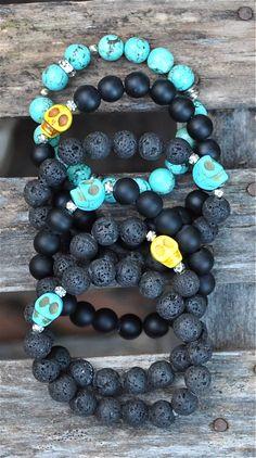 NEW Skull Bracelets | Halloween by BeadRustic