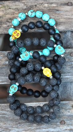 NEW Skull Bracelets | Halloween by BeadRustic