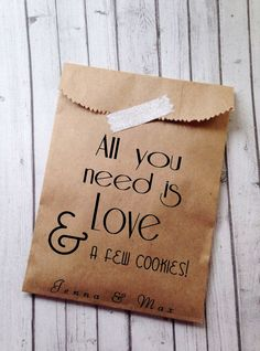 Wedding Cookie Bags Candy Buffet Sacks Custom Favors 25 Cake Recycled Brown Paper Personalized Printed Sack Buffets