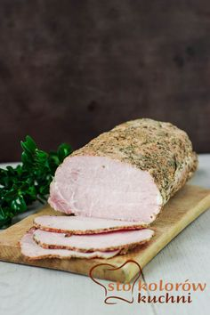 Blanched pork loin - ideal lunch meat (in Polish) Cold Cuts, Kielbasa, Polish Recipes, Pork Loin, Food Photography, Sandwiches, Food And Drink, Cooking Recipes, Lunch