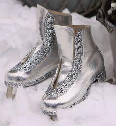 Ice Skates + Glitter = Happy Holiday