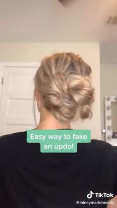 Fake Updo Tutorial An unusual and bright novelty of hair coloring. - Fake Updo Tutorial An unusual and bright novelty of hair coloring will appeal to courageous girls who love everything new and creative. Source by - Work Hairstyles, Easy Hairstyles For Long Hair, Hairstyle Ideas, Updo Hairstyle, Formal Hairstyles, Simple Long Hair Updo, Ponytail Hairstyles, Easy Updo For Work, Hair Updo Easy