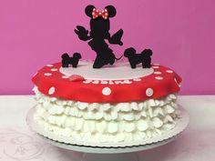 Minnie Mouse und zwei Hunde- Torte