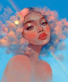 Arte Sketchbook, Cool Art Drawings, Indie Drawings, Psychedelic Drawings, Digital Art Girl, Cartoon Art Styles, Portrait Art, Digital Portrait, Portraits
