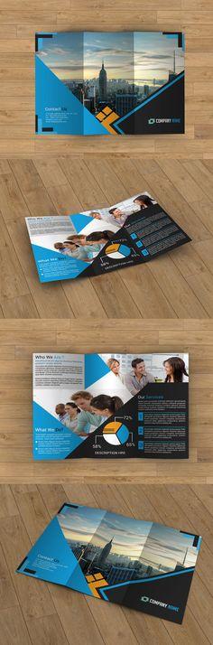 Tri-fold brochure by Template Shop on Creative Market