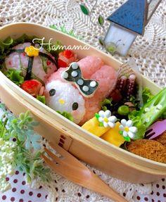 マイメロちゃんのお揃い弁当♡の画像 | ゚*.。.*゚Haママ手作りDiary*.。.*゚*.