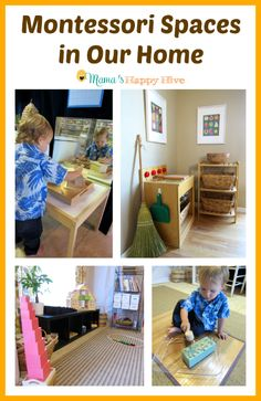 We are sharing easy DIY tips for Montessori spaces at home. The spaces include a classroom (in the unfinished basement), practical life kitchen, & closet.  - www.mamashappyhive.com