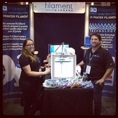 We are set up and running at the Inside 3D Printing Conference and Expo! Be sure to stop by and grab a free sample coil of our pre-lubricated PLA! #inside3dprinting #inside3dprintingconference #3dprinting #3dp #santaclara #3dprinted #filamentexpress #3dprintmasterpro #filament #pla by filament_express