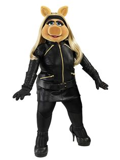 Miss Piggy In A Black Outfit