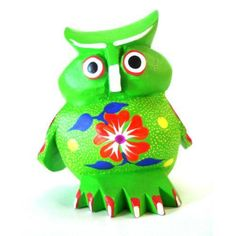 Mexican carvings oaxacan wood carving  owl wood art by fireagate, $79.00