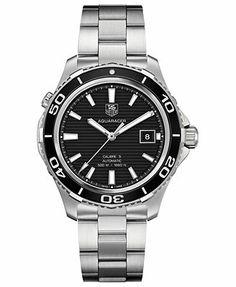 TAG Heuer Men's Swiss Automatic Aquaracer 500m Calibre 5 Stainless Steel Bracelet Watch 41mm WAK2110.BA0830